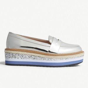 Metallic Platform Loafers